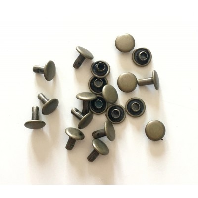 10 sets de Rivets 8mm - Bronze