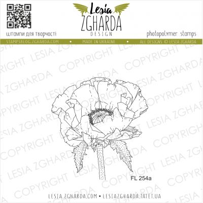 Tampons transparent Lesia Zgharda - Poppy Flower (small)
