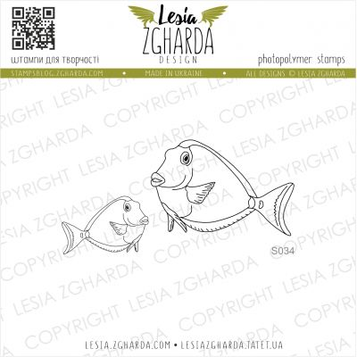 Tampons transparent Lesia Zgharda - Tropical Fishes