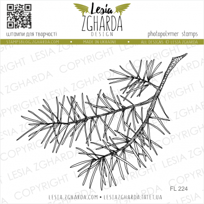 Tampons transparent Lesia Zgharda - The Pine Branch is Big
