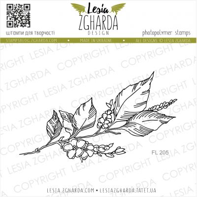Tampons transparent Lesia Zgharda - Sprig of Blossom