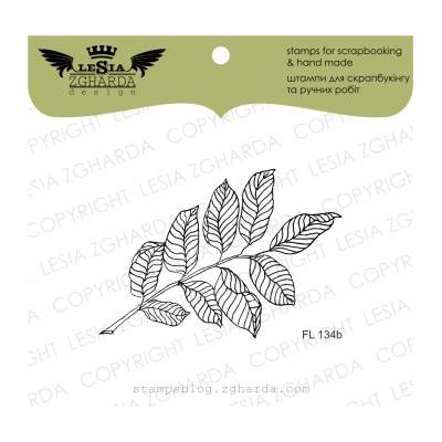 Tampons transparent Lesia Zgharda - Branch with leaves (small)