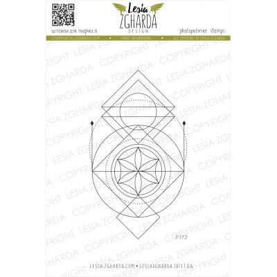 Tampon transparent Lesia Zgharda - Geometric Ornament