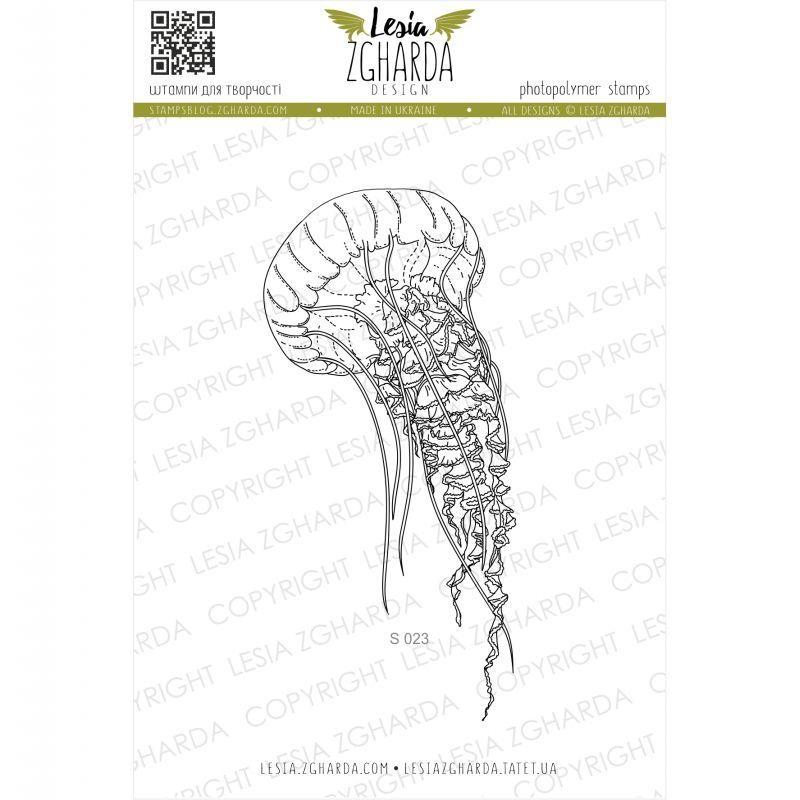 Tampon transparent Lesia Zgharda - Big Jellyfish
