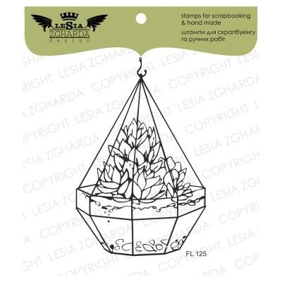 Tampons transparent Lesia Zgharda - Florarium with Succulents