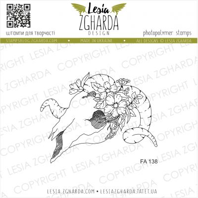 Tampons transparent Lesia Zgharda - Skull with Flowers