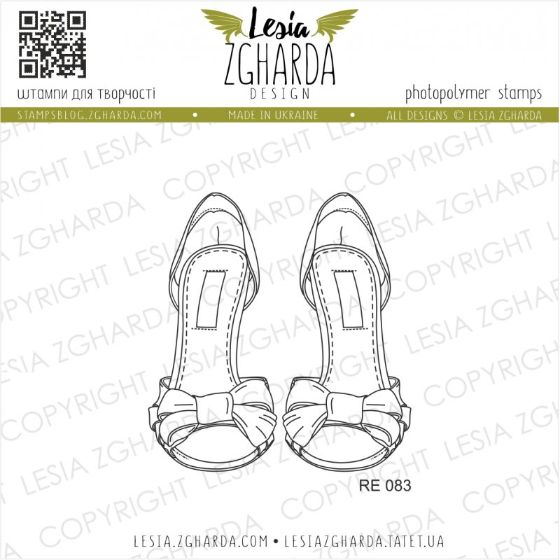 Tampon transparent Lesia Zgharda - Sandals with Ribbons