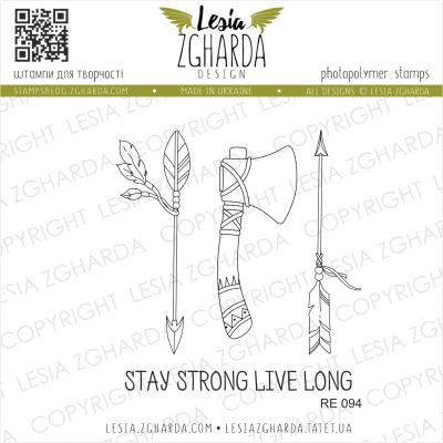 Tampons transparent Lesia Zgharda - Stay Strong Live Long
