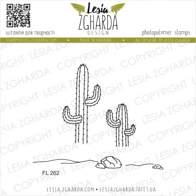 Tampons transparent Lesia Zgharda - Cacti, Stones and Sand