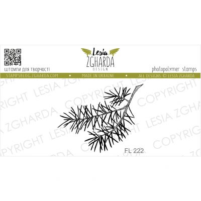 Tampons transparent Lesia Zgharda - Branch of pine (small)