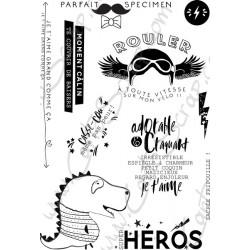 Tampons CartoScrap - Super Héros