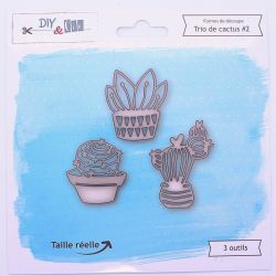 Dies DIY&Cie - Col.13 - Trio de cactus 2