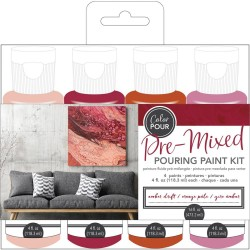 Color Pour - Kit de peintures pré-mélangées - Amber Drift