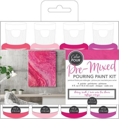Color Pour - Kit de peintures pré-mélangées - Berry Rush