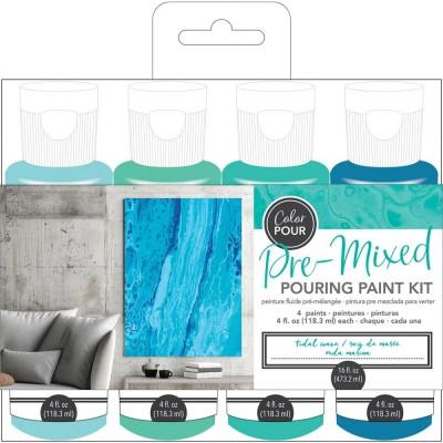 Color Pour - Kit de peintures pré-mélangées - Tidal Wave