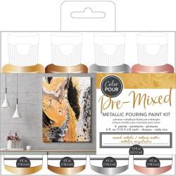 Color Pour - Kit de peintures pré-mélangées - Mixed Metals