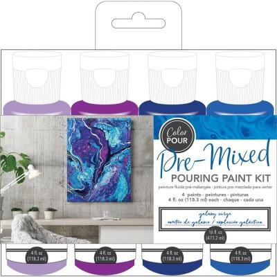 Color Pour - Kit de peintures pré-mélangées - Galaxy Surge