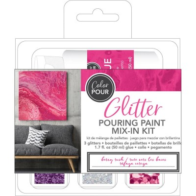 Color Pour - Kit de mélange de paillettes - Berry Rush