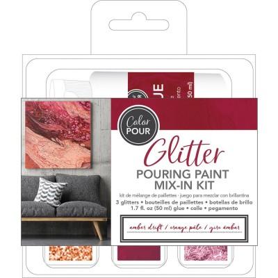 Color Pour - Kit de mélange de paillettes - Amber Drift