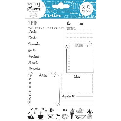 Stampo Planner XL - Page semaine