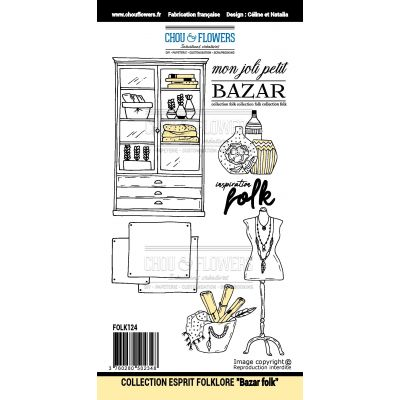 Tampons Chou & Flowers - Esprit Folklore - Bazar Folk