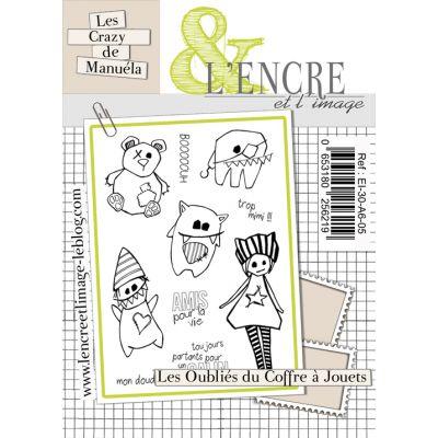 Tampons L'Encre & l'Image - Les Crazy de Manuela - Les oubliés du coffre à jouets