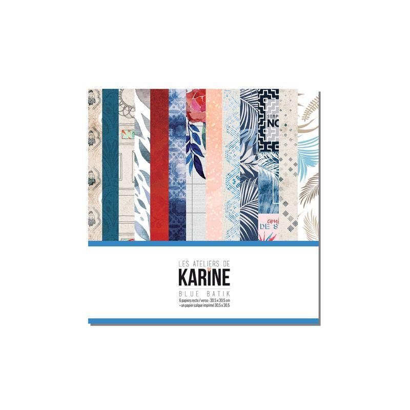 Pack 30x30 - Les Ateliers de Karine - Blue Batik