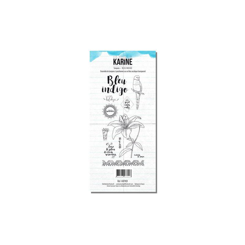 Tampons transparents Les Ateliers de Karine - Bleu Indigo