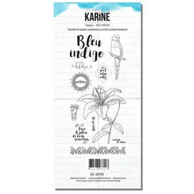 Tampons transparents Les Ateliers de Karine - Blue Indigo