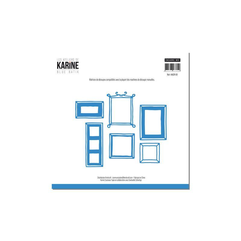 Die Les Ateliers de Karine - Collection Blue Batik - Encadre-Moi
