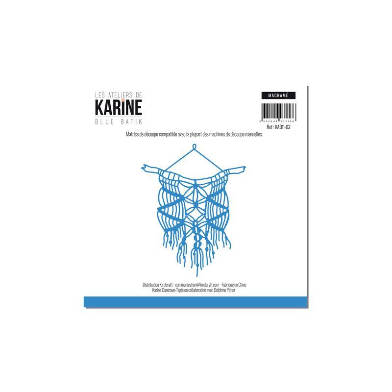 Die Les Ateliers de Karine - Collection Blue Batik - Macramé