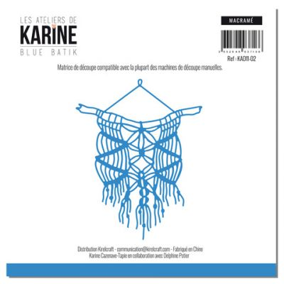 Die Les Ateliers de Karine - Collection Blue Batik - Macramé