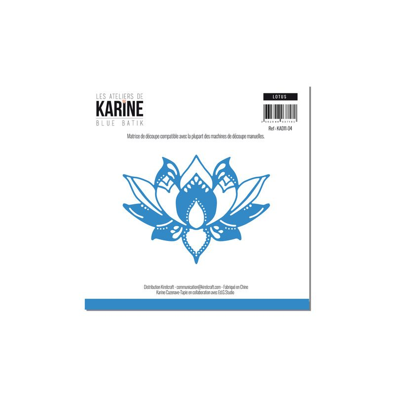 Die Les Ateliers de Karine - Collection Blue Batik - Lotus