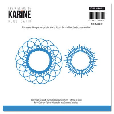Die Les Ateliers de Karine - Collection Blue Batik - Jolis Miroirs