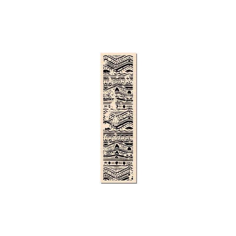 Tampon bois Les Ateliers de Karine - Bordure Batik