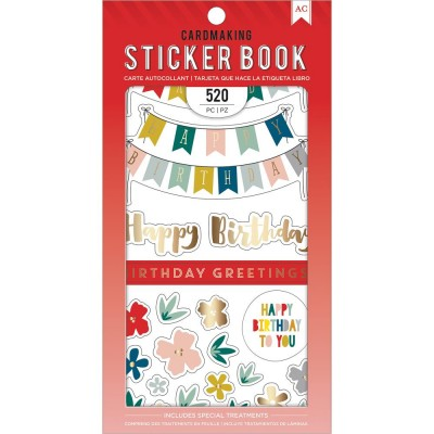 Pack de stickers AC - Cardmaking - Birthday Greetings (25 feuilles)
