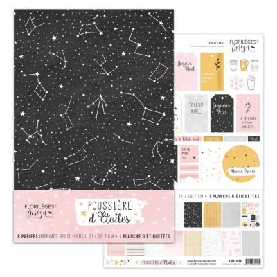 Kit collection A4 - Florilèges Design - Poussière d'étoiles