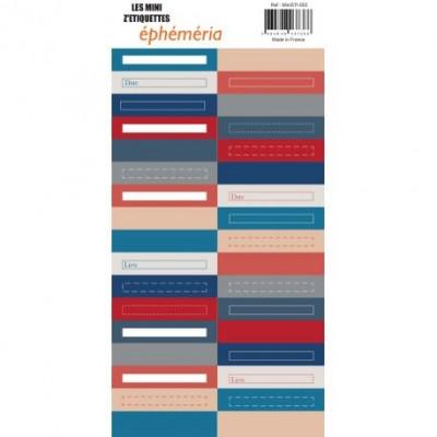 Les mini Z'étiquettes Ephemeria - Blue Batik
