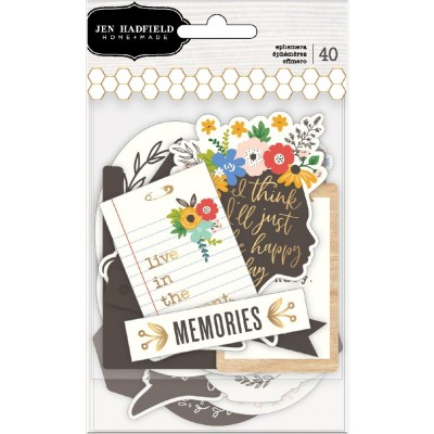Die-cuts Ephemeras Jen Hadfield - Along the way - Phrases