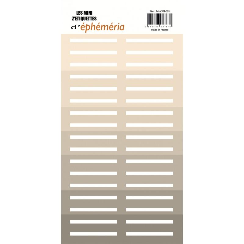 Les Mini Z'étiquettes d'Ephemeria - Nuances de Beige