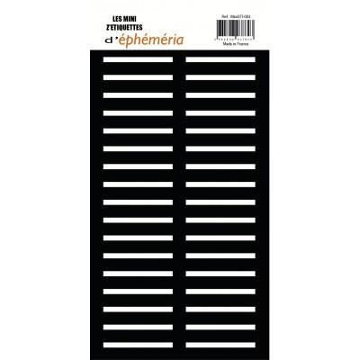 Les Mini Z'étiquettes d'Ephemeria - Noir
