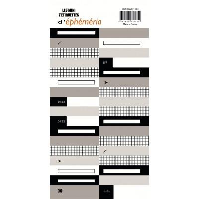 Les Mini Z'étiquettes d'Ephemeria - Noir & Beige