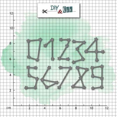 Dies DIY&Cie - Col.14 - Chiffres : Constellation
