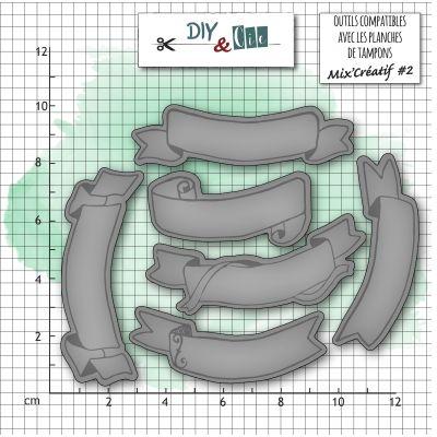 Dies DIY&Cie - Col.13 - Chiffres : Bannières