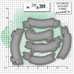 Dies DIY&Cie - Col.14 - Chiffres : Bannières