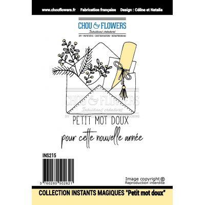Tampons Chou & Flowers - Instants Magiques 2018 - Petit mot doux