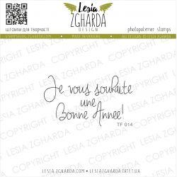 Tampon transparent Lesia Zgharda - Je vous souhaite une bonne année