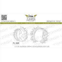 Tampons transparent Lesia Zgharda - Cracked Chestnut