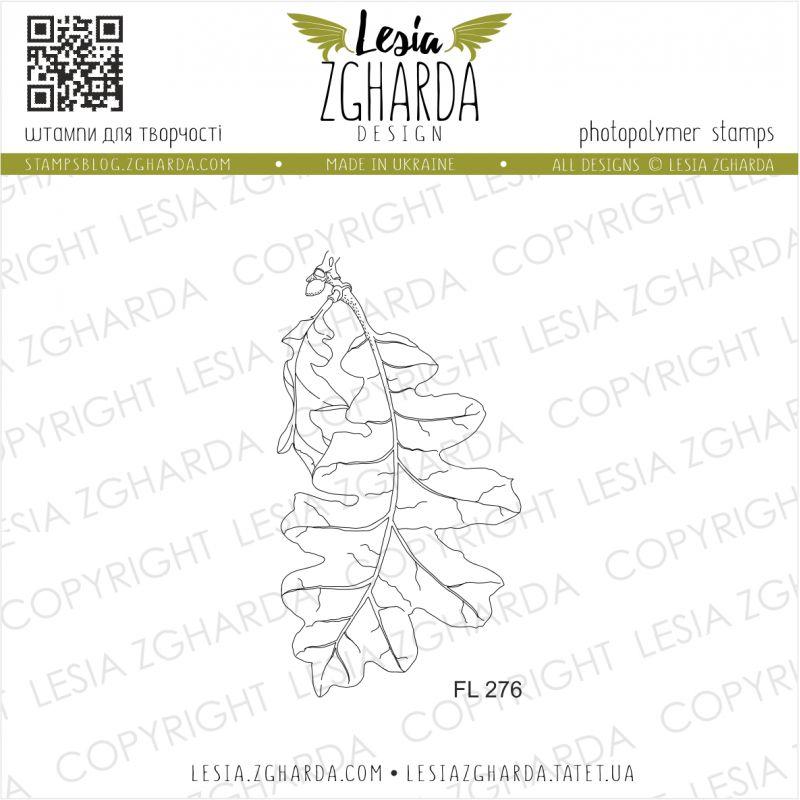 Tampons transparent Lesia Zgharda - Oak leaf (large)