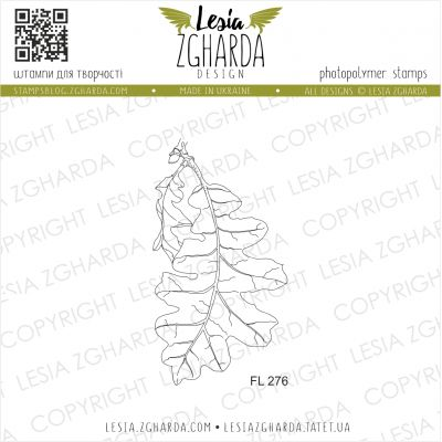 Tampons transparent Lesia Zgharda - Oak leaf (large)